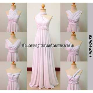 FREE SHIPPING! Bridesmaid Infinity Dress in White