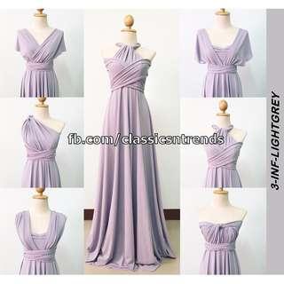 Infinity Dress in Light Gray