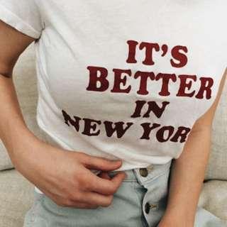 "Brandy Melville ""It's better in New York"" Top"