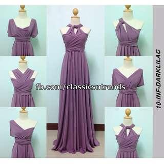 Infinity Dress in Dark Lilac