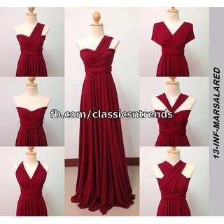 FREE SHIPPING! Bridesmaid Infinity Dress in Marsala Red