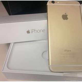 iPhone 6 GOLD 64GB Unlocked (verify together at Apple before you buy)