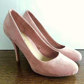 Salmon Suede Forever 21 Heels