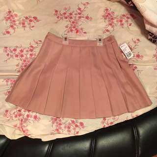 BNWT Pink Pleated Skirt (S)