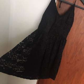 Cute Lace Black Dress