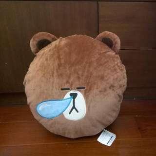 LINE熊大玩偶 娃娃 抱枕 暖手枕 35cm 全新正版