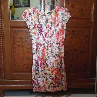 Dress Eprise Motif Bunga