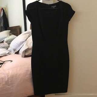 Black formal work dress