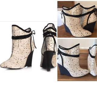 BNEW PLOMO PONY HAIR BOOTIES SIZE 38