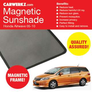 NEW ARRIVAL: Honda Airwave 05-10 4 Pcs Magnetic Sunshades