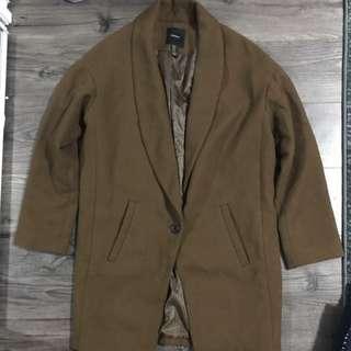 Brown Button Piece Jacket