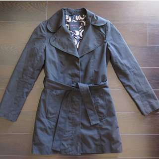 Aritzia Talula Babaton Black Trench Coat Sz S