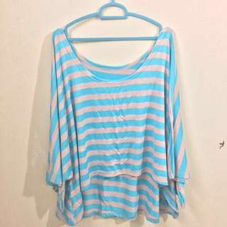Blue stripe batwing
