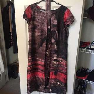 Anthea Crawford Silk Dress