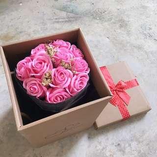 Pink rose roses flower soap Bouquet