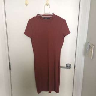 Boohoo Maroon Dress