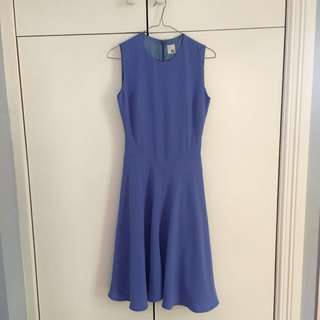 Iris and Ink Blue Fitted Dress Small