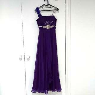 Purple Long Formal Dress