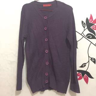 Cardigan Purple Come