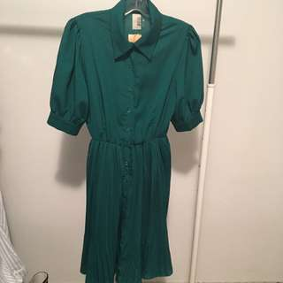 Vintage styled green dress