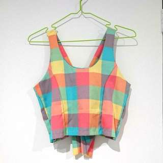 Colourful Pastel Crop Top