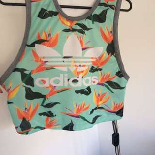 Addidas (not real) gym crop