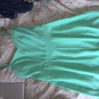 Woman's turquoise playsuit