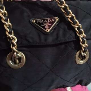 Prada gold chain