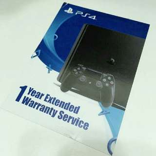 (REDUCED PRICE) ps4 1 year extended WARRANTY CARD from sony
