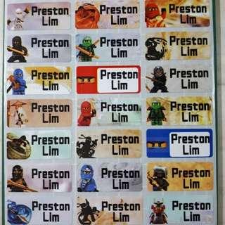 Lego Movie Name Stickers