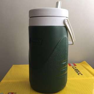 Coleman Water Cooler 1/2 gallon, green, made in USA