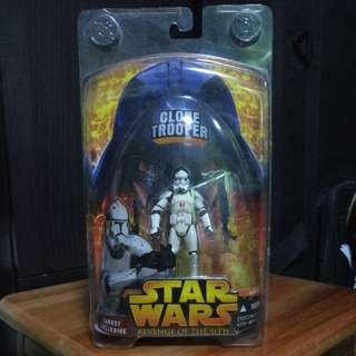 """Star Wars Revenge Of The Sith Clone Trooper Target Exclusive 3.75"""" 3 3/4"""" Action Figure MOC"""