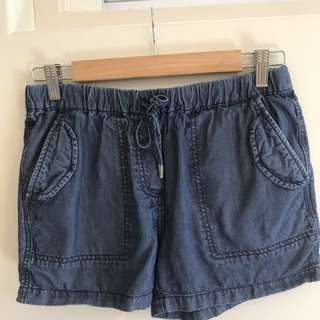 COUNTRY ROAD Chambray Shorts size 4 (AU8)