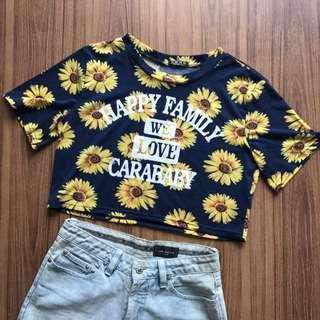 Sunflower Crop Top Tee