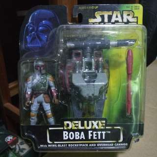 """Star Wars Power Of The Force Deluxe Boba Fett 3.75"""" 3 3/4"""" Action Figure MOC"""
