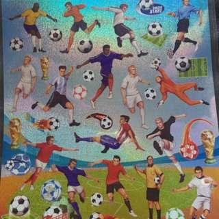 復古 超鏘 足球員貼紙