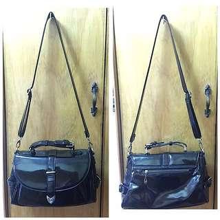 Scarleton Patent Satchel Bag