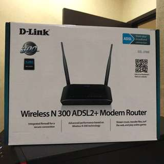 Dlink wireless N300 ADSL modem router