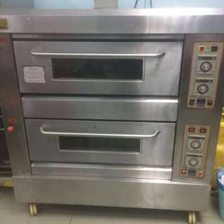 Gas oven 2 layer 4 trays