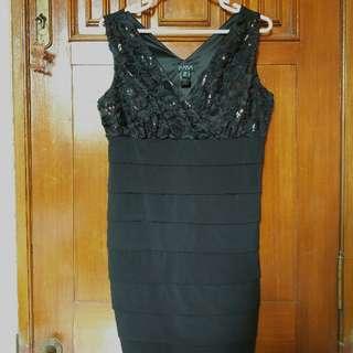 Enfocus Women Black Rose Dress