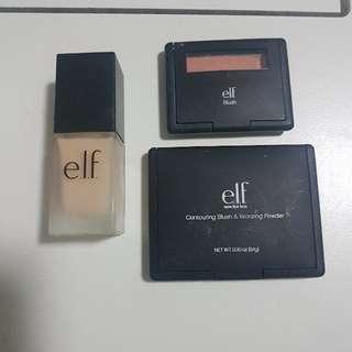Elf foundation, blush and bronzer bundle