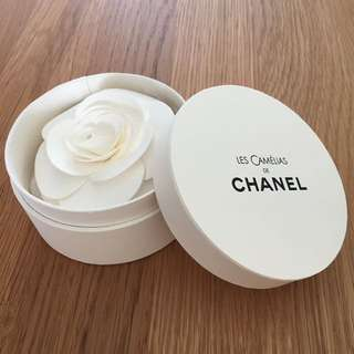 Chanel paper box and brooch