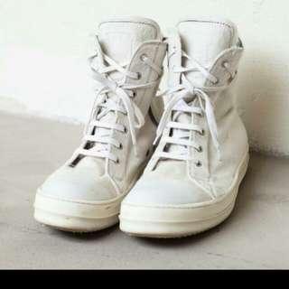 Rick Owens Cream White Ramones