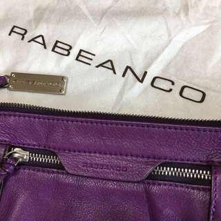 RABEANCO紫色真皮肩背包