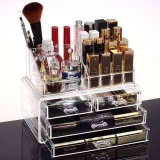 Acrylic cosmetic drawer storage