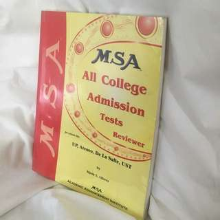 MSA College Entrance Exam Reviewer