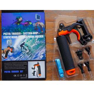 Gopro Hero 5 4 3+ 快槍手把 手持棒 握把 自拍桿 浮力棒 手機固定架 可潛水 水中攝影 快撥槍