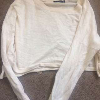 Cropped White Jumper