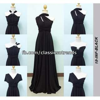 FREE SHIPPING! Bridesmaid Infinity Dress in Black