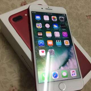 Iphone 7plus Red 128gig